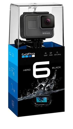 Filmadora GoPro Hero 6 Black | 12MP | 4K | com Wi-Fi e Comando de Voz