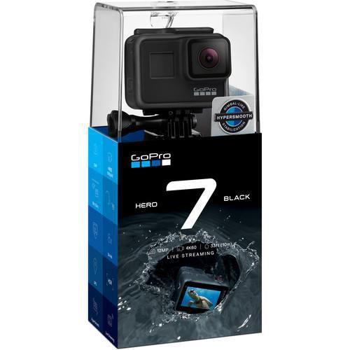 Filmadora GoPro Hero 7 Black   12MP   4K   com Wi-Fi e Comando de Voz - Preta