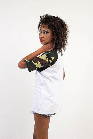 Camiseta Raglã DLDC Verde Militar