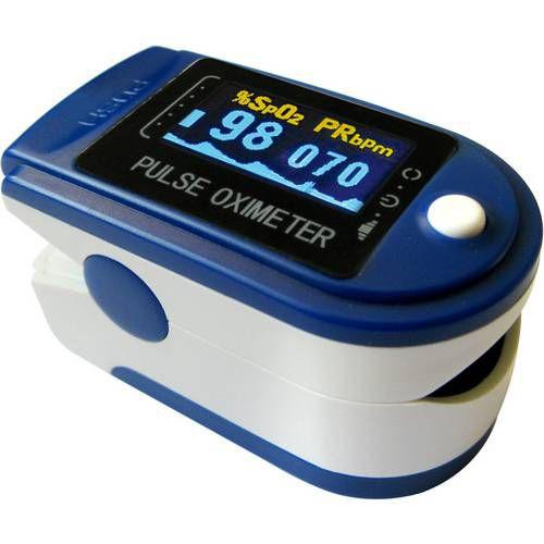 Oxímetro de Pulso Adulto Contec com Curva Plestimográfica e ANVISA