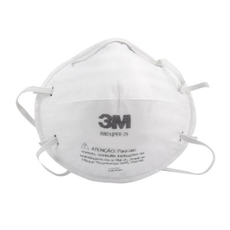 Mascara Proteção Respirador 3m Pff2 N95 Sem Válvula Caixa com 20 unidades 8801 CAIXA COM 20 UNIDADES