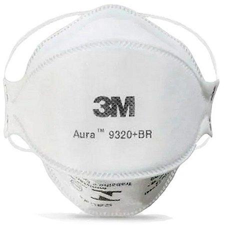 Mascara De Proteção Respirador 3m Pff2 N95 Sem Válvula 9320+BR Aura