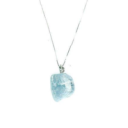 4424f703a34 Colar prata 925 pedra natural água marinha - ♥ Semi joias online é ...