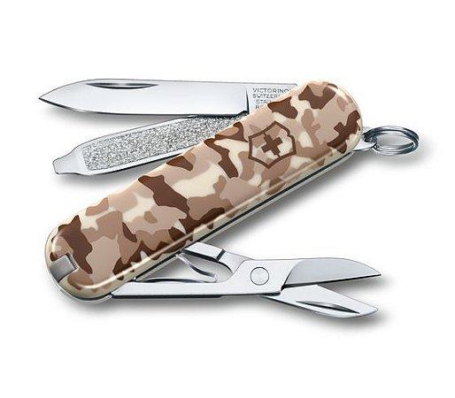 Canivete esportivo Classic Sd 7 funções Camuflado - Victorinox