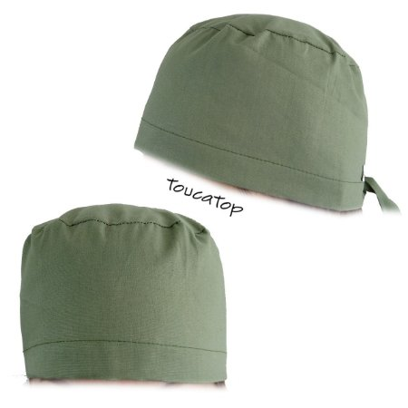 Gorro Cirúrgico Liso - Verde Musgo - ToucaTop - Toucas Cirúrgicas ... 3d9b02f5172