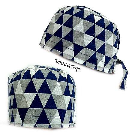 Gorro Cirúrgico Geométrico - Triângulos Coloridos - Azul a007517812f
