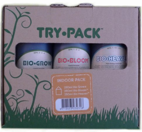 Fertilizante Try Pack Indoor Bio Heaven 250ml