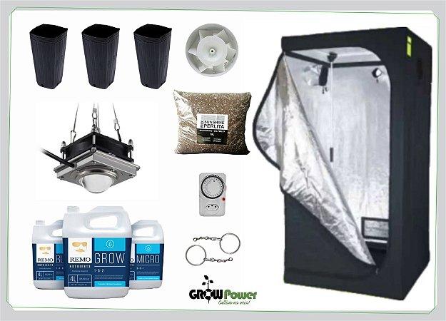 KIT LED EASY TO GROW 80x80x160 - 300w 110v