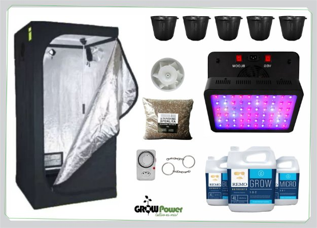 KIT LED EASY TO GROW 100x100x200 – 600w Bivolt