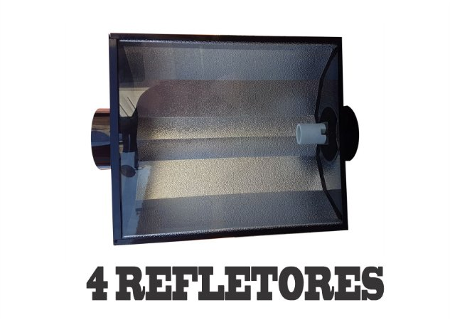 4 Refletores Dutados BIG HEAD 63x46cm - 150mm + FRETE GRÁTIS