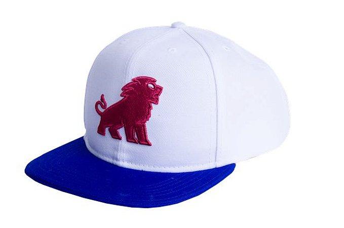 Boné Leão1918 - Branca aba azul