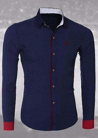 Camisa Social Azul - SÓCIO