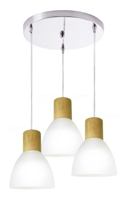 Pendente Anello Wood 3 lâmpadas - Startec