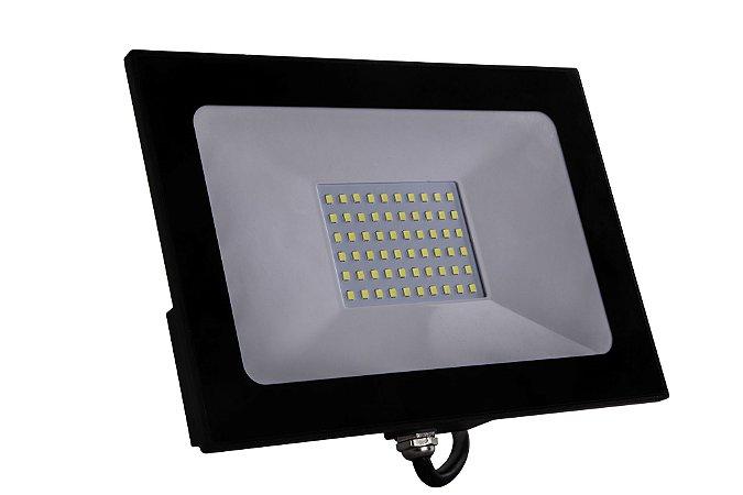 REFLETOR LED 100W PRETO 3000K