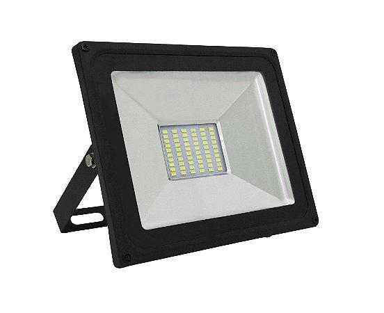 REFLETOR LED 50W PRETO 3000K