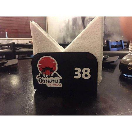 Porta Guardanapo Personalizado Para Bares Lanchonetes e Restaurantes em acrílico Preto com espessura de 4mm