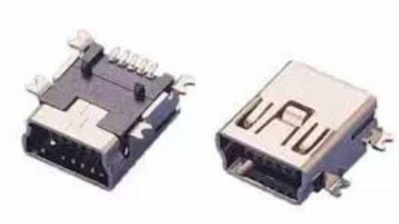 Conector Jack Usb V3 Conector Mini Usb Fêmea 5 Pinos