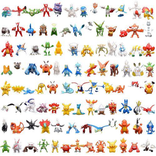 Kit com 144 mini figuras Pokémon 3 cm - Animes Geek