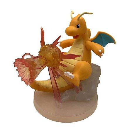 Diorama Dragonite Versão de Batalha Alta qualidade - Pokémon