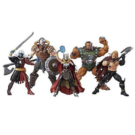 Pack 5 Action Figures The Mighty Thor Batalha de Asgard Marvel Legends - Hasbro