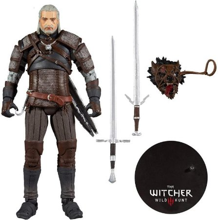 Action Figure Geralt de Rivia The Witcher III Wild Hunt Ver. Wolf Armor - McFarlane