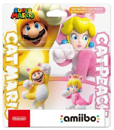 Amiibo Pack Cat Mario e Cat Peach Super Mario Nintendo WiiU Switch - Games Geek