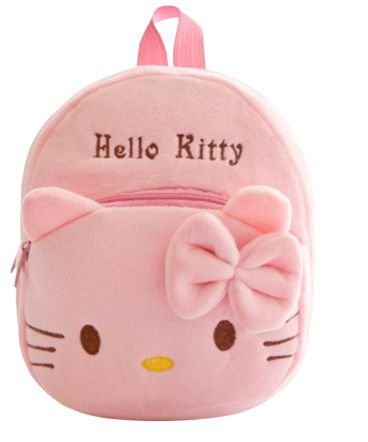 Mochila Infantil Plush Hello Kitty Pink - Escolar