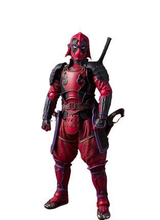 Action Figure Deadpool Totalmente Articulado Versão Samurai