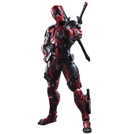 Action Figure Deadpool 30 Cm Articulado Arts Kai Variant Versão Red Color - X-Men