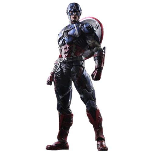 Action Figure Capitão América 27 Cm Articulado Arts Kai Variant