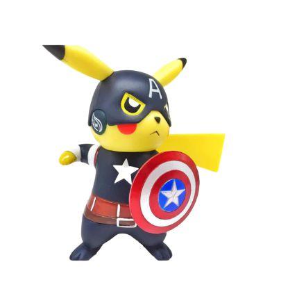 Diorama Pikachu Versão Capitão América - Pokémon