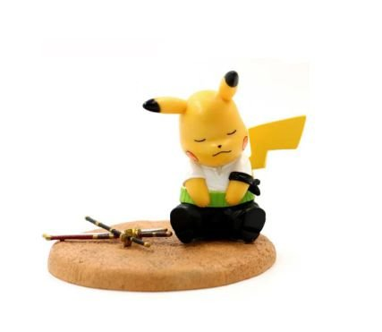 Diorama Pikachu Versão Zoro One Piece - Pokémon