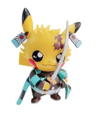 Diorama Pikachu Versão Tanjiro Demon Slayer - Pokémon