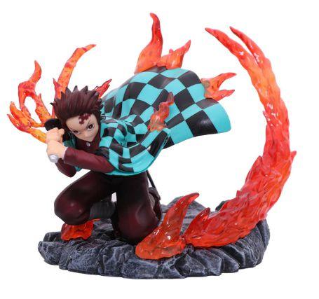 Diorama Demon Slayer Tanjiro kamado Dança Deus do Fogo - Kimetsu No Yaiba