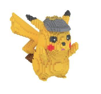 Blocos de Montar Pikachu Detetive Versão I - Pokémon
