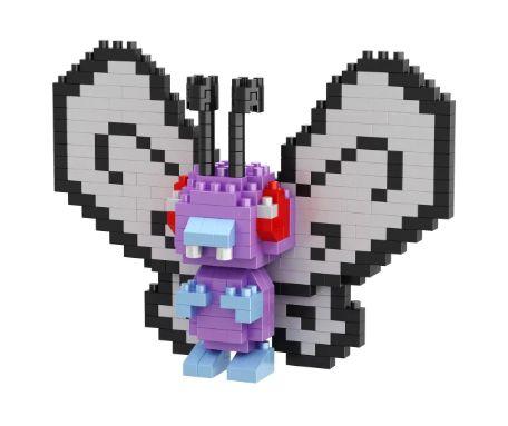 Mini Blocos de Montar Pokémon 10 Cm  -  Butterfree