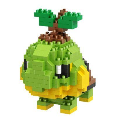 Mini Blocos de Montar Pokémon 12 Cm  -  Turtwig