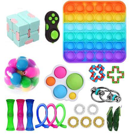 Kit com 22 peças Push Pop Bubble Sensory Fidget Toy Anti Stress  - Alta qualidade
