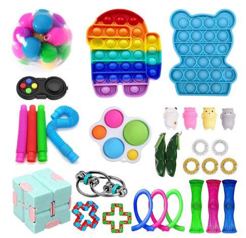 Kit com 30 peças Push Pop Bubble Sensory Fidget Toy Anti Stress  - Alta qualidade