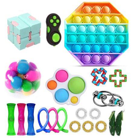 Kit com 22 peças Push Pop Bubble Sensory Fidget Toy Anti Stress III  - Alta qualidade