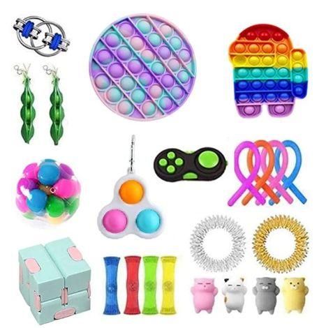 Kit com 23 peças Push Pop Bubble Sensory Fidget Toy Anti Stress I - Alta qualidade
