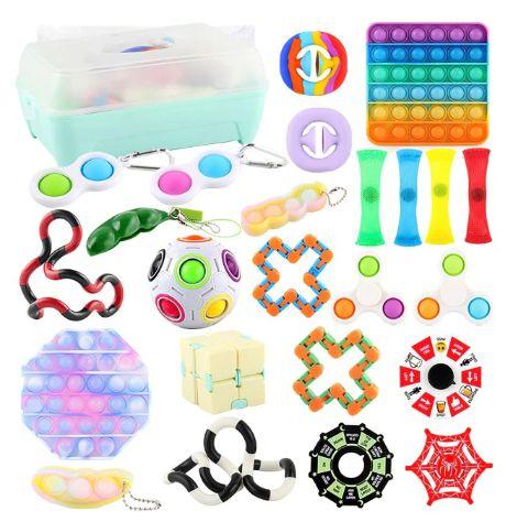 Kit com 24 peças Push Pop Bubble Sensory Fidget Toy Anti Stress  - Alta qualidade