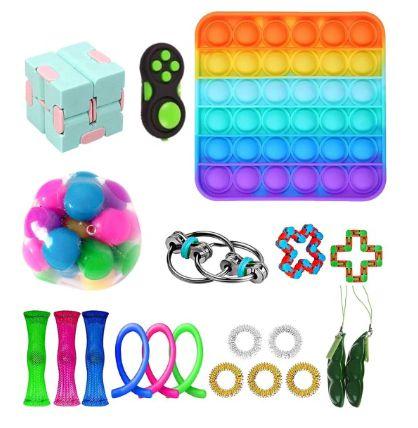 Kit com 20 peças Push Pop Bubble Sensory Fidget Toy Anti Stress I - Alta qualidade