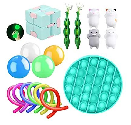 Kit com 18 peças Push Pop Bubble Sensory Fidget Toy Anti Stress - Alta qualidade