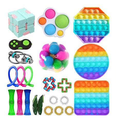 Kit com 23 peças Push Pop Bubble Sensory Fidget Toy Anti Stress II - Alta qualidade