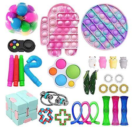 Kit com 30 peças Push Pop Bubble Sensory Fidget Toy Anti Stress III - Alta qualidade