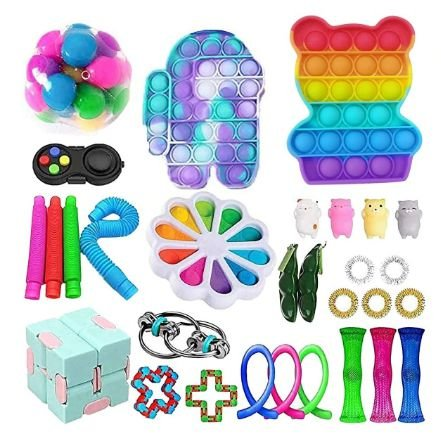Kit com 30 peças Push Pop Bubble Sensory Fidget Toy Anti Stress IV - Alta qualidade