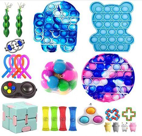 Kit com 24 peças Push Pop Bubble Sensory Fidget Toy Anti Stress III - Alta qualidade