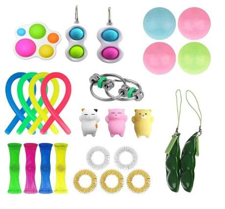 Kit com 26 peças Push Pop Bubble Sensory Fidget Toy Anti Stress - Alta qualidade