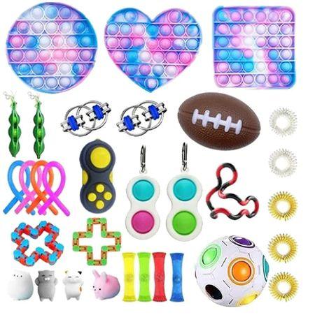 Kit com 32 peças Push Pop Bubble Sensory Fidget Toy Anti Stress - Alta qualidade